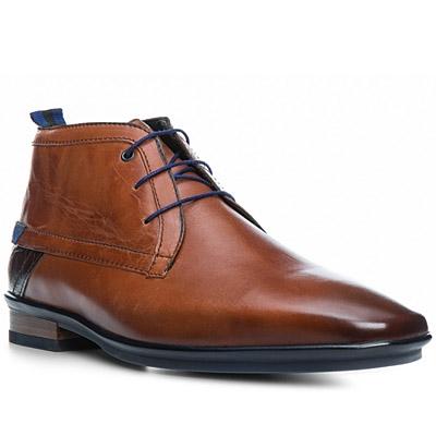 Floris van Bommel Boots dunkelblau Gummisohle Kalbleder