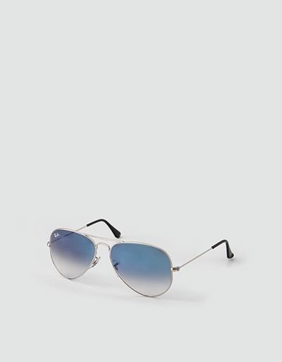 RayBan Sonnenbrille AVIATOR Pilotenform Orginal blau gold