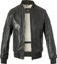 Mode Strellson Anthrazit Lederjacke Shield Herren Auf Verkauf