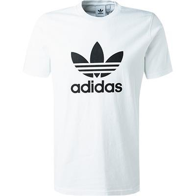 adidas ORIGINALS Trefoil T-Shirt white  CW0710