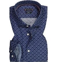 Günstig Tommy Hilfiger Tailored Hemd Fitted Twill Grün Blau
