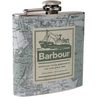 Barbour Archive Map 6oz Hip Flask UAC0234GN15